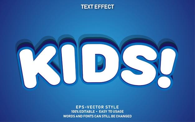 Edytowalny Efekt Tekstowy Słodkie Dzieci Premium Wektorów