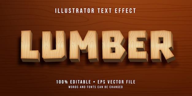 Edytowalny Efekt Tekstowy - Styl Drewniany Premium Wektorów