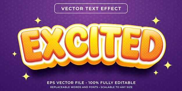Edytowalny Efekt Tekstowy - Styl Emocji Premium Wektorów