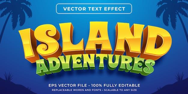 Edytowalny Efekt Tekstowy - Styl Gry Na Wyspie Premium Wektorów