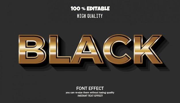 Edytowalny Efekt Tekstowy, Styl Złoty Premium Wektorów
