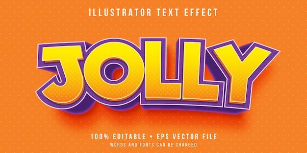Edytowalny Efekt Tekstowy - Szczęśliwy Styl Tekstu Premium Wektorów