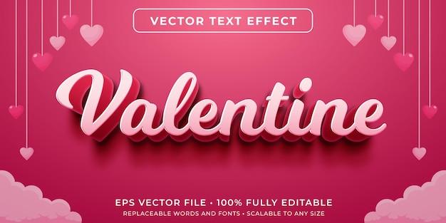 Edytowalny Efekt Tekstowy W Kursywnym Stylu Walentynkowym Premium Wektorów