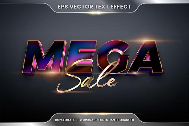 Edytowalny Efekt Tekstowy Ze Słowami Mega Sale Premium Wektorów