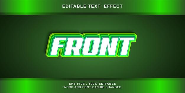 Edytowalny Efekt Tekstu Z Przodu Premium Wektorów