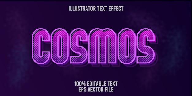 Edytowalny Kosmiczny Efekt Tekstowy Premium Wektorów