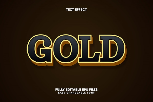 Edytowalny Wektor Efekt Złota Tekstu Premium Wektorów