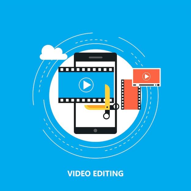 Edytowanie Wideo Premium Wektorów