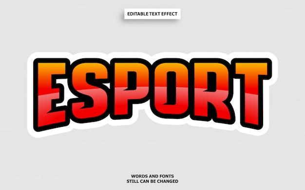 Efekt Czcionki Edytowalnej W Stylu Tekstowym Esports Premium Wektorów