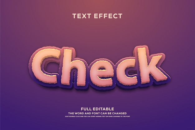 Efekt Czcionki Edytowalnej W Stylu Tekstowym Premium Wektorów