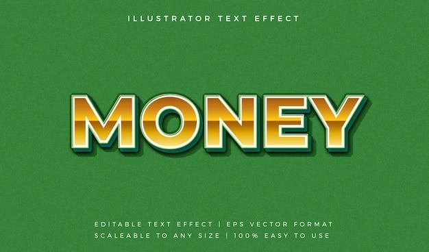 Efekt Czcionki W Stylu Tekstu Gold Money Premium Wektorów