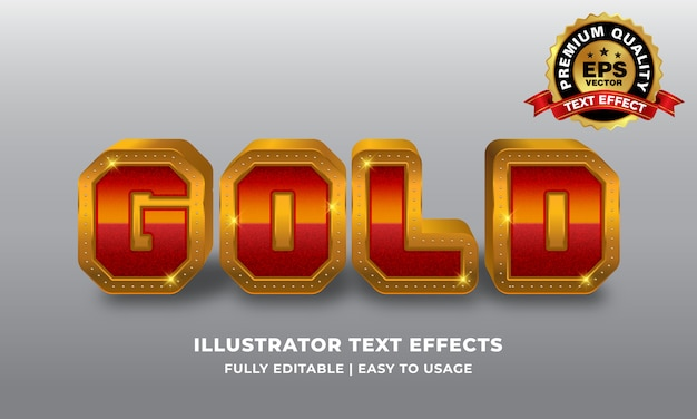 Efekt Czerwonego Złota Premium Wektorów