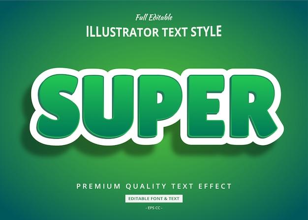 Efekt Ekologicznego Czystego Tekstu W Stylu 3d Premium Wektorów