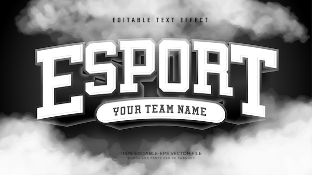 Efekt Esport Text Darmowych Wektorów