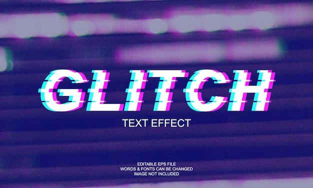 Efekt Glitch Text Premium Wektorów