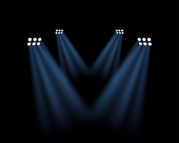 Efekt Oświetlenia Stadionu Na Przezroczystym Premium Wektorów