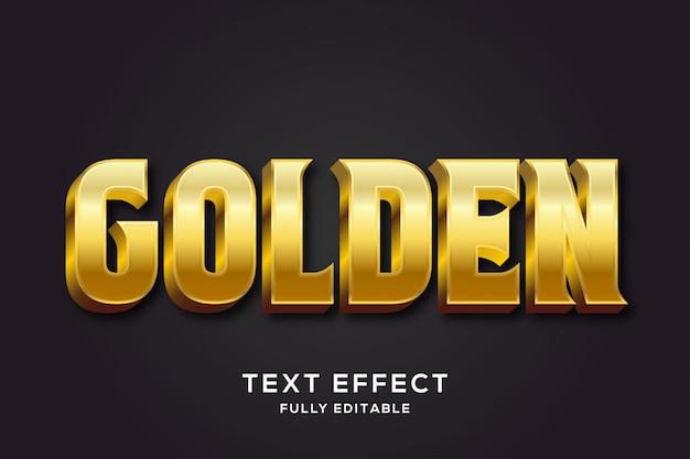 Efekt Premium W Stylu Royal Gold Text Premium Wektorów