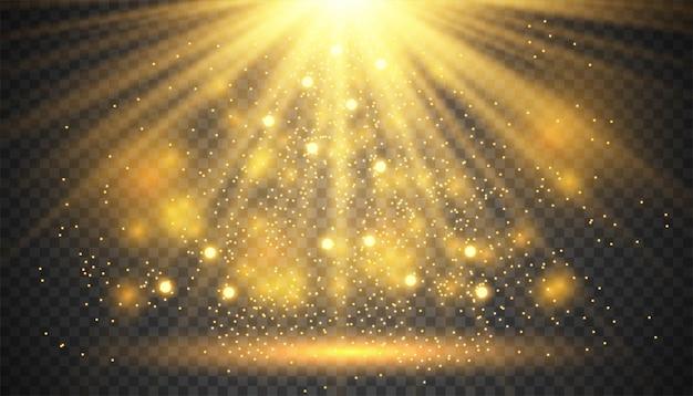 Efekt przezroczystego światła jarzeniowego Premium Wektorów