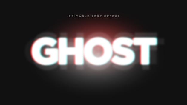 Efekt Stylu Ghost 3d Text Style Premium Wektorów