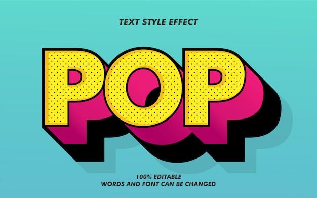 Efekt Stylu Retro Pop Bold Text Premium Wektorów