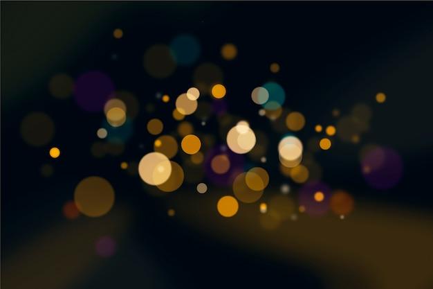 Efekt świateł Bokeh Na Ciemnym Projekcie Tapety Darmowych Wektorów