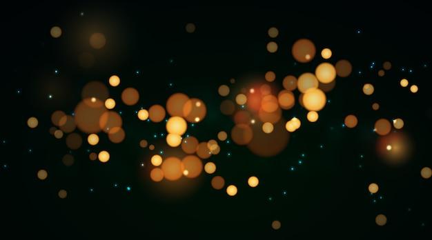 Efekt świateł Bokeh Na Ciemnym Tle Darmowych Wektorów