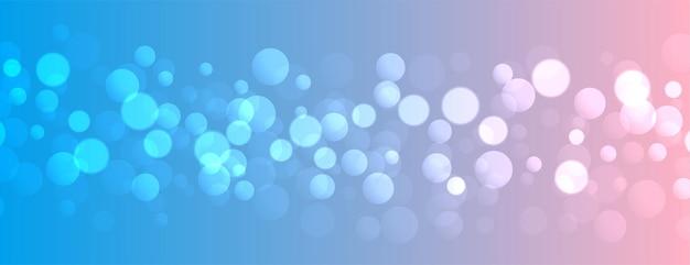 Efekt świetlny Bokeh Na ładnym Gradiencie Kolorów Darmowych Wektorów