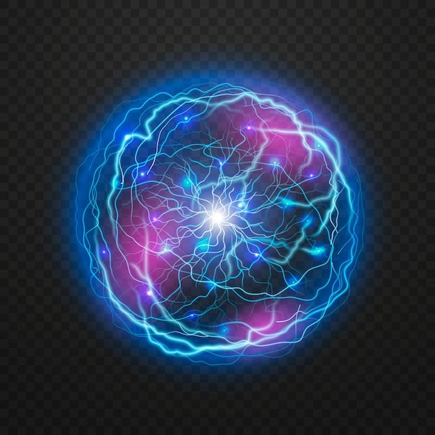 Efekt świetlny Z Piłką Elektryczną Darmowych Wektorów