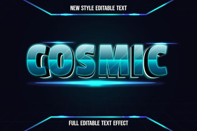 Efekt Tekstowy 3d Kosmiczny Kolor Zielony I Czarny Premium Wektorów