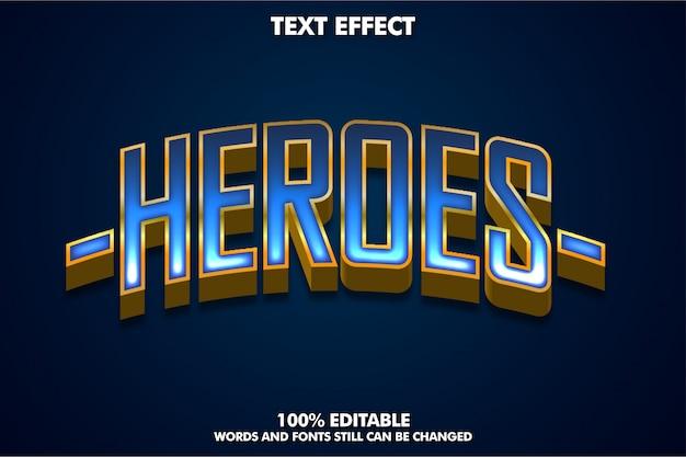 Efekt Tekstowy 3d Na Baner Lub Naklejkę Superbohatera Premium Wektorów