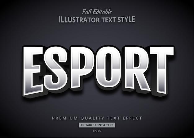 Efekt Tekstowy E-sportu Premium Wektorów