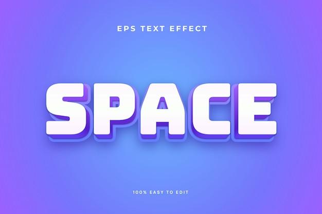 Efekt Tekstowy Gry Kosmicznej Premium Wektorów