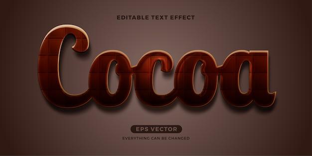 Efekt Tekstowy Kakao Premium Wektorów