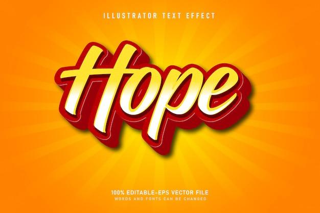 Efekt Tekstowy Nadziei Premium Wektorów
