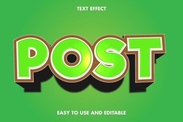 Efekt Tekstowy - Post. Premium Wektorów