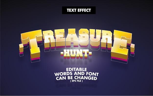 Efekt Tekstowy Poszukiwanie Skarbów Edytowalne Słowa Premium Wektorów