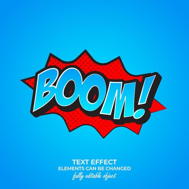 Efekt Tekstowy Premium Boom Premium Wektorów