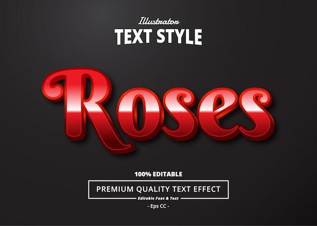 Efekt Tekstowy Róż Premium Wektorów