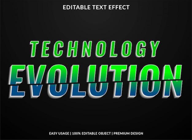 Efekt Tekstowy Technologii Premium Wektorów