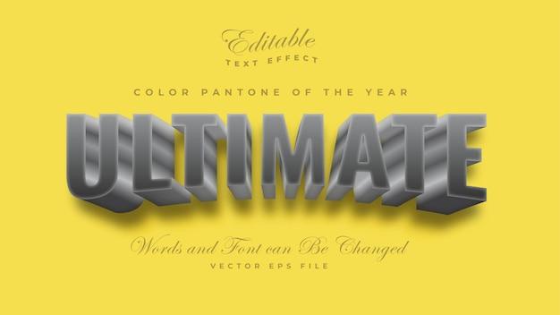 Efekt Tekstowy Ultimate Grey Color Pantone 2021 Darmowych Wektorów