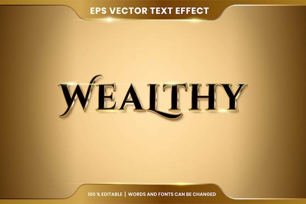 Efekt Tekstowy W Bogatych Słowach Efekt Tekstowy Motyw Edytowalny Metalowy Złoty Kolor Premium Wektorów