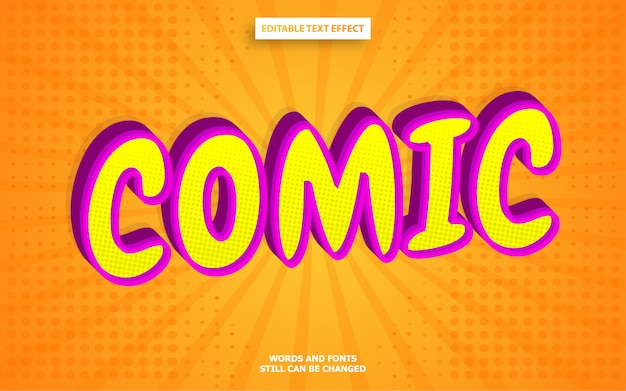 Efekt Tekstowy W Stylu Komiksu Premium Wektorów