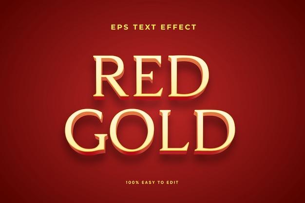 Efekt Tekstu Czerwonego Złota Premium Wektorów