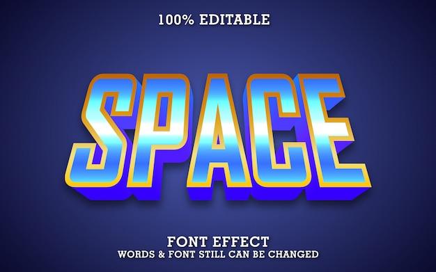 Efekt Tekstu Naklejki Przestrzeni, Nowoczesny Szablon Typografii Premium Wektorów