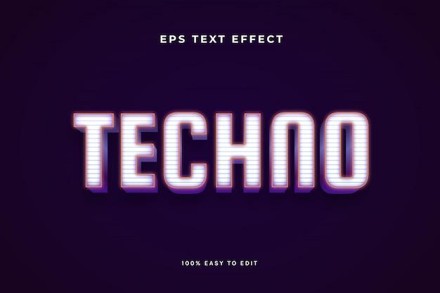 Efekt Tekstu Techno Premium Wektorów