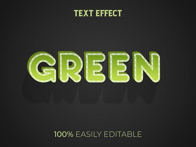 Efekt Zielonego Tekstu 3d Premium Wektorów