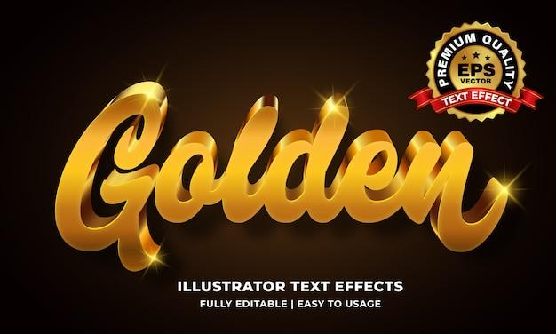 Efekt Złotego Tekstu Premium Wektorów