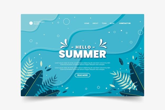 Egzotyczna Strona Podwodna W Okresie Letnim Premium Wektorów