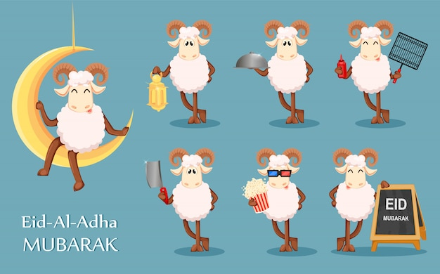 Eid al adha mubarak Premium Wektorów