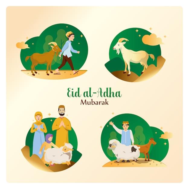Eid al-adha w zestawie pakietów Premium Wektorów